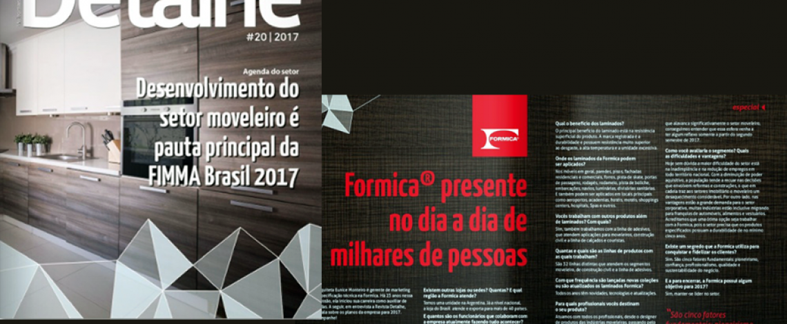 Formica® na Revista Detalhe