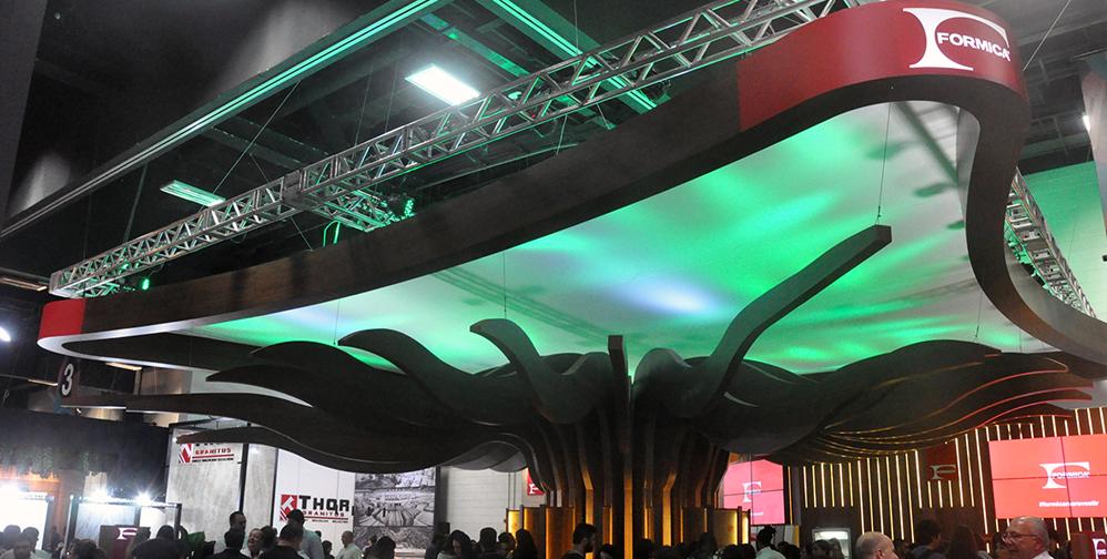 Proposta do estande da Formica® na Expo Revestir 2018