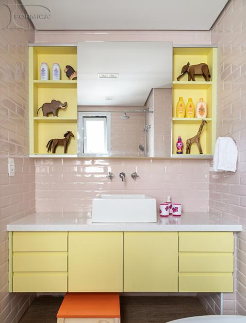 Banheiro | Projeto: Marina Carvalho Arquitetura | Foto: Evelyn MullerO_1