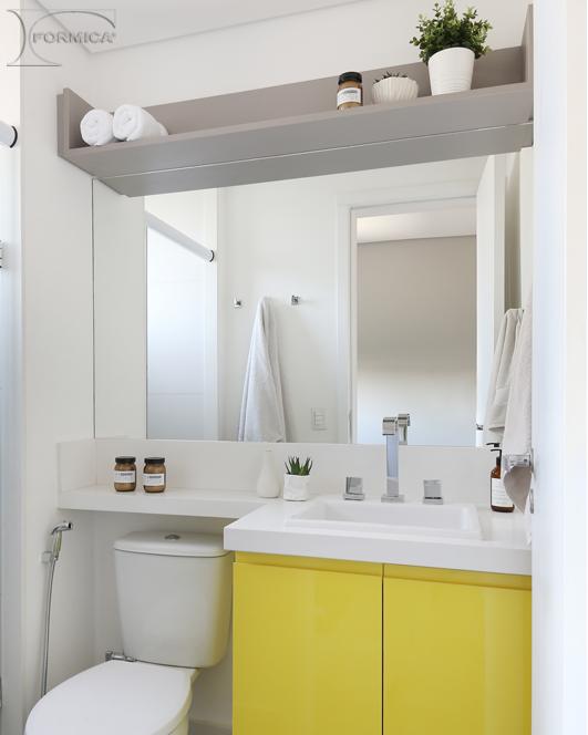 Banheiro | Projeto: Degradê Arquitetura e Interiores | Foto: Mariana_Orsi | Padrões: L 118 Cobalto e L523 Novo Cromo Real