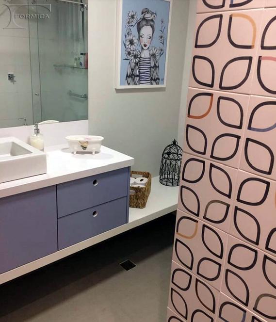 Banheiro | Projeto: Luciana Santa Fé | Marcenaria: MDN Móveis Planejados